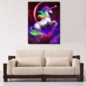 Bodhi2000® Colourful Unicorn 5D Diamond Painting Embroidery Handmade Cross Stitch Home Decoration