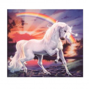 Bodhi2000® Unicorn Rainbow Diamond Painting DIY Embroidery Arts Craft for Home Wall Decor