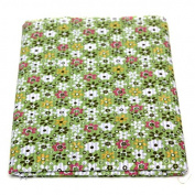 Bazaar 8pcs 40x50cm Cotton Green Flower Sewing Fabric Dolls Purse Handwork DIY Patchwork Cloths