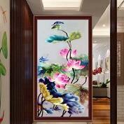 Bazaar 57x32cm 5D DIY Painting Lotus Flower Embroidery Stitch Craft Cross Stitching Home Decor