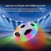 Hover Football Game, Morbuy Air Power Soccer Disc Glide Base Ball Game Training Indoor Outdoor Fun Toys with Soft Foam Bumpers and LED Lights Perfect Football Gifts for Kids Teens
