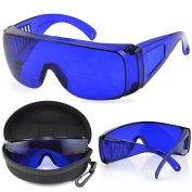 GeekBox® Golf Ball Finder Glasses with Blue Tinted Lenses Protective Case and Cleaning Cloth