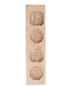 JKcom Moon Cake mould Chinese Mooncake Mould Wooden Cookie Mould Baking Mould,4 Cavities