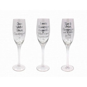 SILVER CHAMPAGNE FLUTE Boxed-