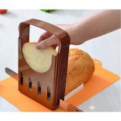Foldable Bread Toast Slicer Bagel Slicer Loaf Sandwich Bread Slicer Toast Slice Cutter Mould with 4 Slice Thickness