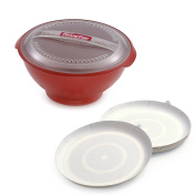 Powerpop Microwave Corn Popper, Red & PowerCup Concentrators, Package of 8