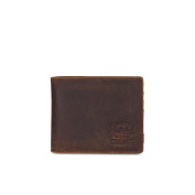 Herschel Roy Nubuck Leather Leather RFID Wallet Credit Card Case Brown