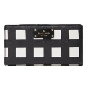 Kate Spade Grove Street Stacy Printed Pop Art Cheque Wallet Purse Bag; Black/White