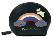 Radley Small Leather Coin Purse Rainbow Navy
