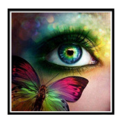 Geyou 5D Diamond Painting by Number Kits Butterfly Eye Stitch DIY Embroidery Diamond Home Decor Gift New,Cross-Stitch Stamped Kits