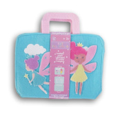 Fairy Themed Kids' Art Felt-Folio with Sketchpad and Crayons