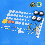 Plastic Gear Set Gear Package Gear Kit Plastic Motor Gears For DIY Car Robot 70pcs