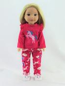 Hot Pink Unicorn Pyjamas - Fits 36cm Wellie Wisher Dolls | 36cm Doll Clothing
