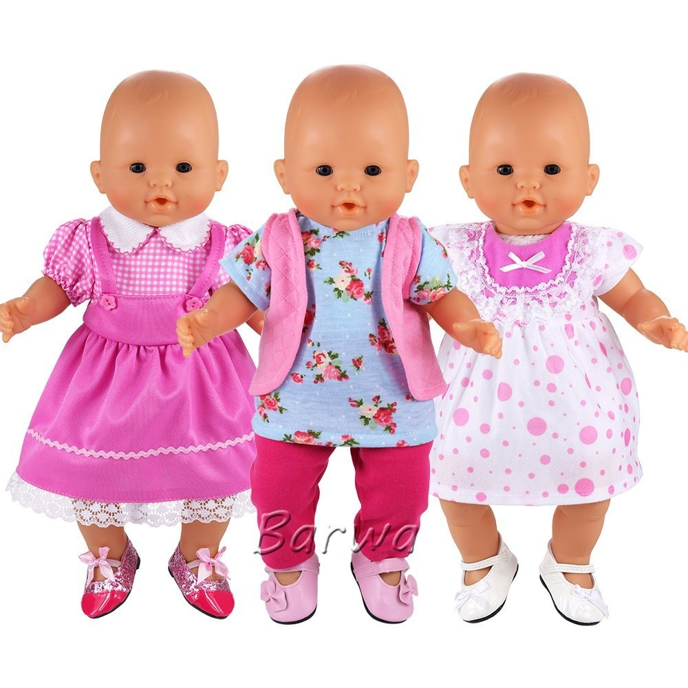 Barwa Handmade 3 Pcs Dresses Clothing And 3 Pairs Shoes Lovely