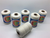 100% x6 Cotton Heavy Duty White Threads For Leather Tent Canvas Flag Tent Repair UK