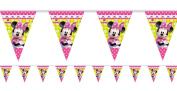 Girls Disney Pink Minnie Mouse Birthday Party Flag Bunting Garland Banner Celebration Tableware Decorations Accessories