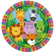 Boys Girls Babies Toddlers Animal Friends Jungle Zoo Themed Birthday Party Plates Celebrations Decorations Tableware Lion Giraffe Hippo Crocodile Tiger