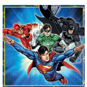 Boys Girls Birthday Party Napkins Celebration Paper Tableware Decorations Justice League Batman Superman Aquaman Flash Green Lantern