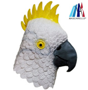 MASCARELLO®Parrot Bird Latex Animal Head Mask for Halloween Cosplay Party Costume Fancy Dress