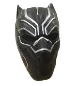 UK Halloween Carnival Cosplay Panther Black Latex Cosplay Full Head Helmet Mask - Universal Size