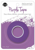 "Purple Tape by iCraft. Easy Release, Delicate, Removable Paper Tape in Purple. 1.5"" x 15 yd (38mm x 13.8m) Roll"