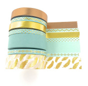 Precious metals washi variety set with gold foil, rose gold -