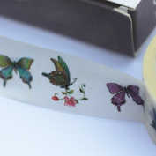 Butterfly Decorative Washi Tape 5m x 1.5cm Assorted Butterflies Craft