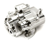 Integy RC Model Hop-ups C27993SILVER Billet Machined Alloy Centre Gearbox for Traxxas TRX-4 Scale & Trail Crawler