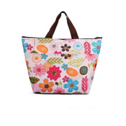 Molyveva Lunch Bag Flower Prints Tote Bag Lunch Organiser Lunch Holder Lunch Container