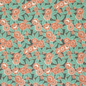 Amy Butler Violette Flourish Crush Packed Flowers Cotton Fabric - Sold Per 1/4 Metre