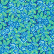 Amy Butler Violette Portrait Sky Packed Flowers Cotton Fabric - Sold Per 1/4 Metre