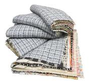Finest Designer Tweed Fabric Patchwork Squares - 10 Squares 23cm x 23cm
