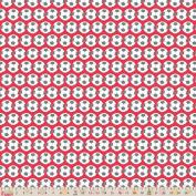 Cotton Fabric - Fat Quarter - Fabric Freedom - Goal - Football Red