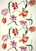 Equipo DRT Tulips Fabric with Flowers 58x35x5 cm Natural