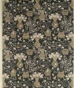 Equipo DRT Katami Linen Fabric with Design Ceramic Japanese Inspiration 58x35x5 cm Black