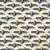 Fat Quarter Bats on Ecru Halloween 100% Cotton Quilting Fabric