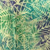 Cotton Fabric - Metre - Sew Simple Batik - Batik - Leaf Skelton Blue