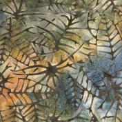 Cotton Fabric - Fat Quarter - Sew Simple Batik - Batik - Leaf Skelton Indigo
