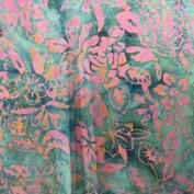 Cotton Fabric - Metre - Sew Simple Batik - Batik - Rose Floral Pink