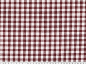 Chequered Cotton Fabric (Approximately 1 cm, Bordeaux, 140 cm