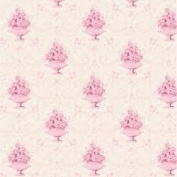 FLORAL FABRICS - Damask Pink Cream - Scandi Floral Fabric - TILF96 - By 0.5 metre - By Tilda - 100% Cotton