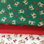 CHRISTMAS FABRIC BUNDLE - Christmas Deer Bows - Bundle - QTFB08 - by Quilting Treasures - 100% Cotton