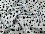 Tribal Print Cotton Broadcloth Dress Fabric Light Blue - per metre