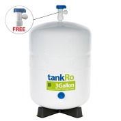 11.4l RO Expansion Tank – Compact Reverse Osmosis Water Storage Tank Reservoir by tankRO – with FREE Tank Ball Valve