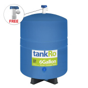 22.7l RO Expansion Tank – Compact Reverse Osmosis Water Storage Tank Reservoir by tankRO – with FREE Tank Ball Valve
