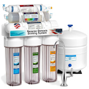 Express Water ROALK5DC 10 Stage Alkaline Antioxidant Reverse Osmosis Home Drinking Water Filtration System, BPA and Lead Free, Clear