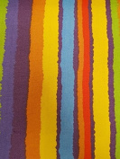 Multi Colour Rainbow Print Stripe Bright Printed Canvas Material For Arts Craft Fabric Textile Bags Quality Upholstery