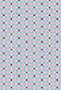 Ladybird Polycotton Fabric Flower Pink / Blue