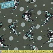 Cotton + Steel Sleep Tight - Night Owl Grey Pearlescent Sewing Fabric