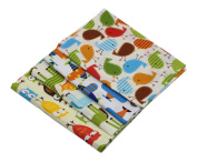 ChengYa 4pcs Fabric Patchwork Craft Animal Cotton Batiks Mixed Squares Bundle Baby Doll Cloth 50*40cm